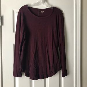 Madewell Whisper Cotton Long Sleeved Tee, Large
